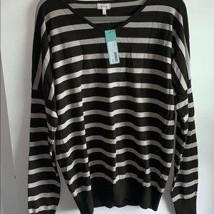 Stitch Fix Pixley Borrego Olive V-Neck Sweater